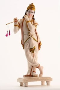 Marble Krishna with Flute Statue
