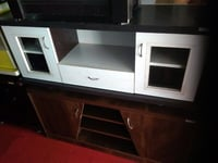 Designer White And Brown TV Stand