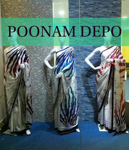 Designer Satyapaul Crepe Sarees
