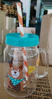 Acrylic Jar With Lid And Straw