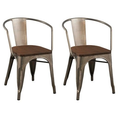 Ms Powder Coated Wooden Top Chair