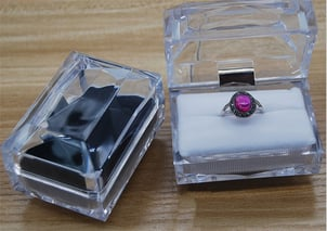 Transparent Crystal Glass Jewelry Packaging Box