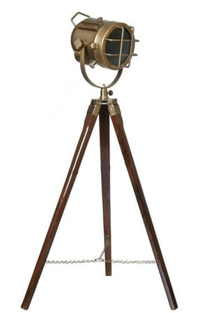 Hollywood Style Studio Floor Lamp Decorative Tripod Spotlight with Wiring and Bulb