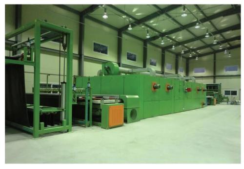 Industrial Artificial Turf Gumming And Drying Production Line
