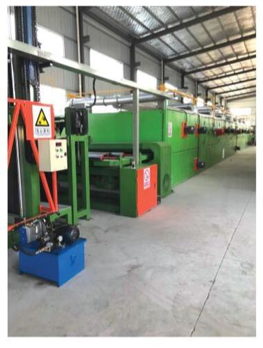 Artificial Turf Gumming And Drying Production Line