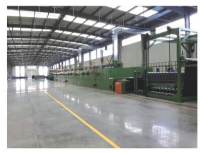 Artificial Turf Gumming And Drying Production Line Machine