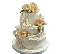 Flavored 3 Tier Wedding Cake