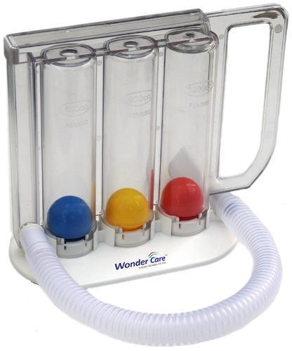 Incentive Spirometer 3 Ball Deep Breathing Lung Exerciser