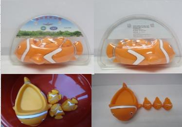 Popular Clownfish Bath Toy Set