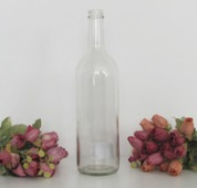 Transparent Glass Bottles 750Ml Screw Finish Flint Empty Bottle