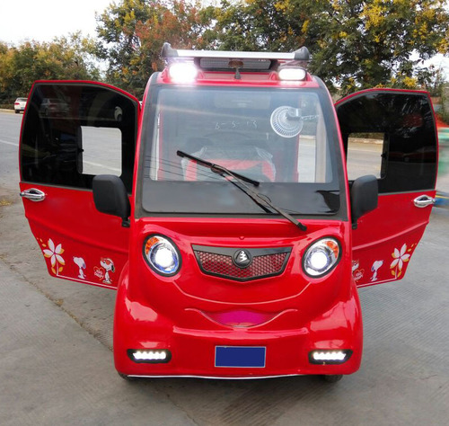 Red Color Electric Car in  New Area
