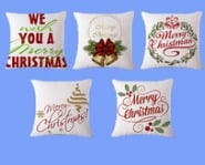 New Year Christmas Decorative Cushion Embroidered Printing Design Christmas Pillow