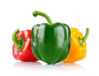 Color Capsicums Red Yellow