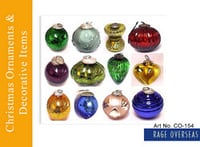 Glass Ware Christmas Ornament Items