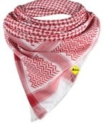 100% Cotton Red Square Arab Scarf With Exquisite Sewing Hijab Scarf