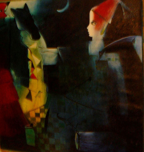 Untitled Paresh Maity Oil Canvas Painting