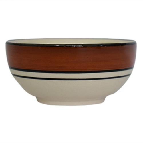 Glossy Finish Ceramic Curry Bowl