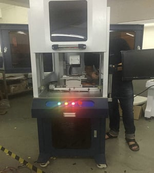 Easy Operation Air Cooling 50W Fiber Laser Marking Machine