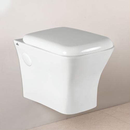 Wall Hung White Ceramic Toilet