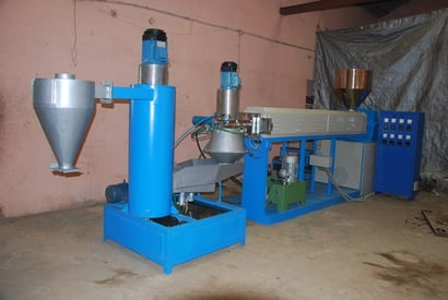 Plastic Waste Recycling Plant With Die Face Cutter