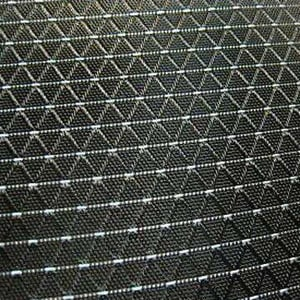 306-WY09053-Jacquard Nylon Polyester Fabric With Water-Repellent and Diamond PVC