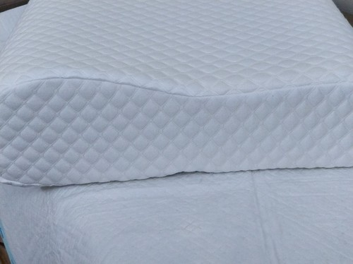 White Rafa Sleep Right- Double Contour Orthopedic Memory Foam Pillow