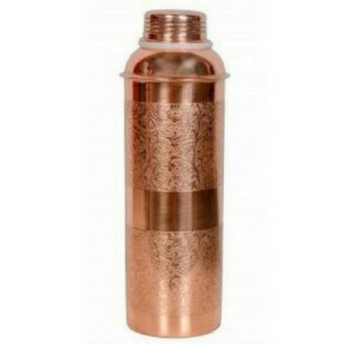 Gift Set Embossed Copper Bottle