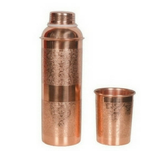 Pure Embossed Copper Bottle