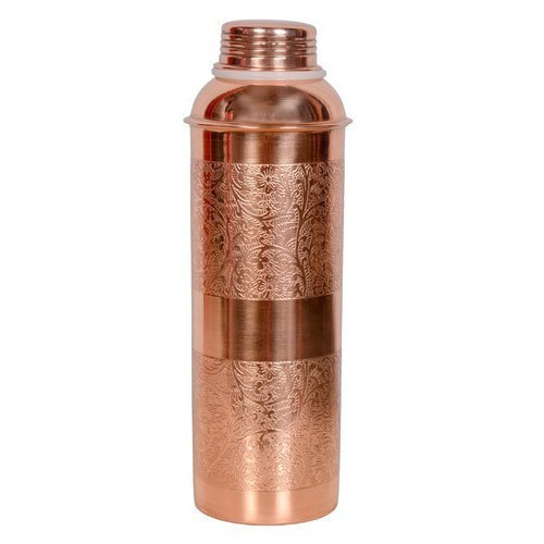 Pure Embossed Copper Bottles