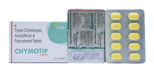 Trypsin Chymotrypsin Aceclofenac & Paracetamol Tablets