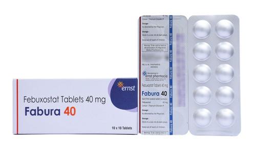 Febuxostat Tablets 40 mg (Fabura 40)
