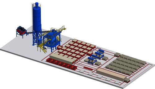 High Capacity Clc Cellular Light Concrete Block Production Plant