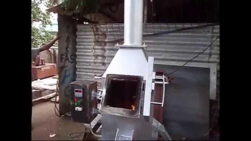 Incinerator System For Restaurant Waste
