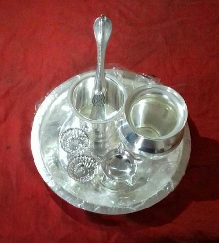 Silver Plated Pooja Set in Guruwar Peth & Silver Plated Pooja Set in Pune Maharashtra - Pawan Enterprises
