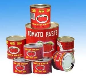 Canned Red Tomato Paste