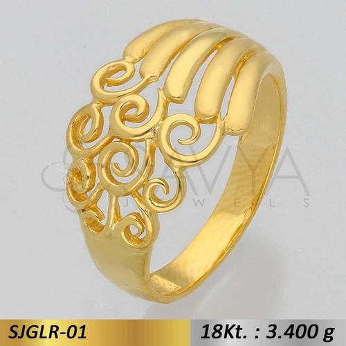 Ladies Gold Finger Ring