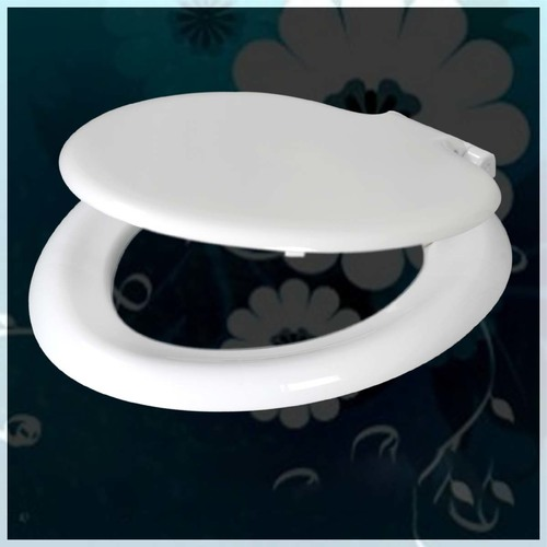 Soft Close White Toilet Seat Cover