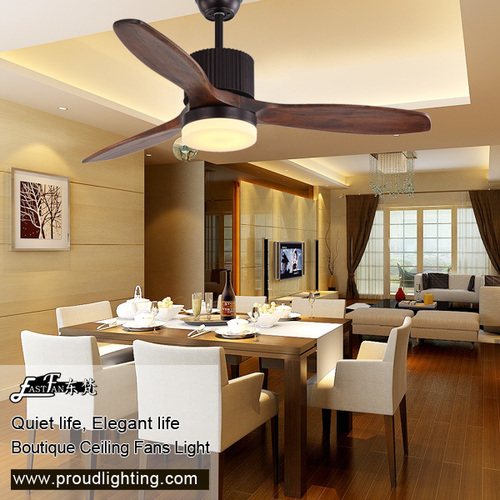 52 Inch 3 Blade Natural Wood Ceiling Fan With Light At Best Price In Zhongshan Guangdong Proud Lighting Technology Co Ltd
