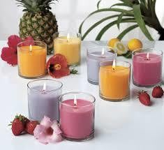 Fragrances Colorful Glass Candles