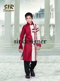 Indian Red And White Kurta Pajama
