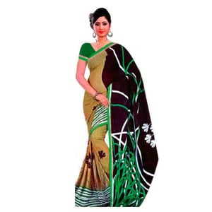 Printed Polyester Sarees For Ladies