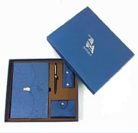 4 In 1 Business Gift Notebook With Pen, Keychain Bag And Name Card Bag