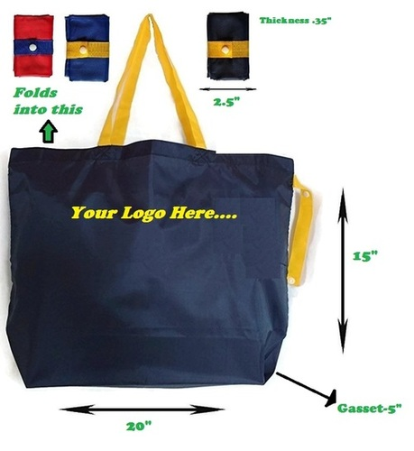 Foldable Polyester Grocery Shopping Bag