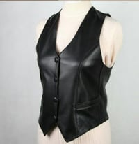 Attractive Look Ladies Leather Waistcoat