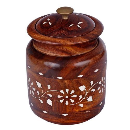 Customized Brown Wooden Jar
