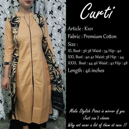 Anti Wrinkle Elegant Design Cotton Kurti