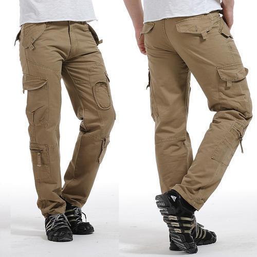 Mens Cotton Cargo Pants