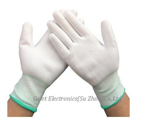 Pu Painted Finger Coated Gloves