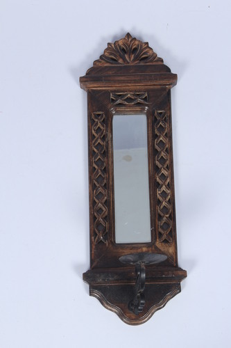 Wooden Mirror Candle Stand