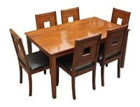 6 Seater Wooden Dining Table Sets